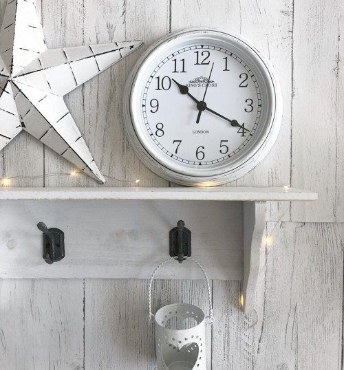 small white wall clock1