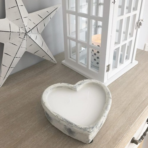stone heart candle1