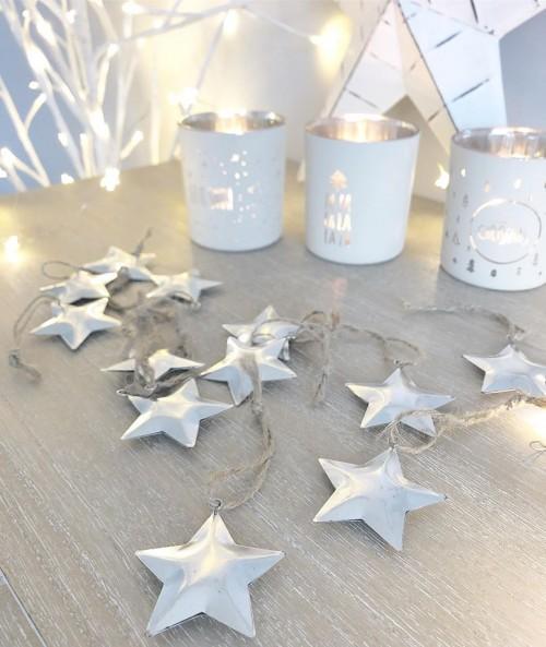set silver stars